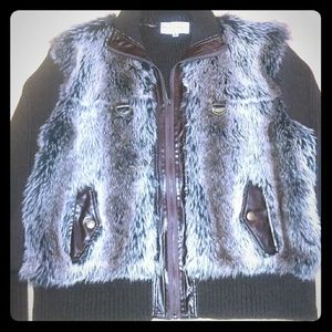 Sweaters - Faux Fur Cardigan Sweater